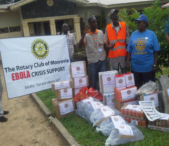 Supplies for the Ebola Response from the Monrovia Rotary Club